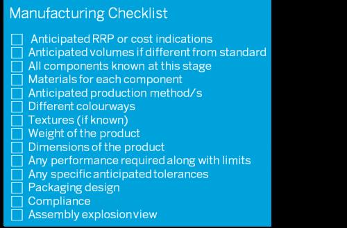 D2M manufacturing checklist v5